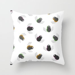 Friendly Spiders Throw Pillow