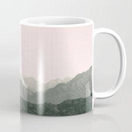 Mountains | Green + Pink Coffee Mug
