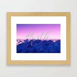 Ultra Violet Mountains - Hustle Framed Art Print