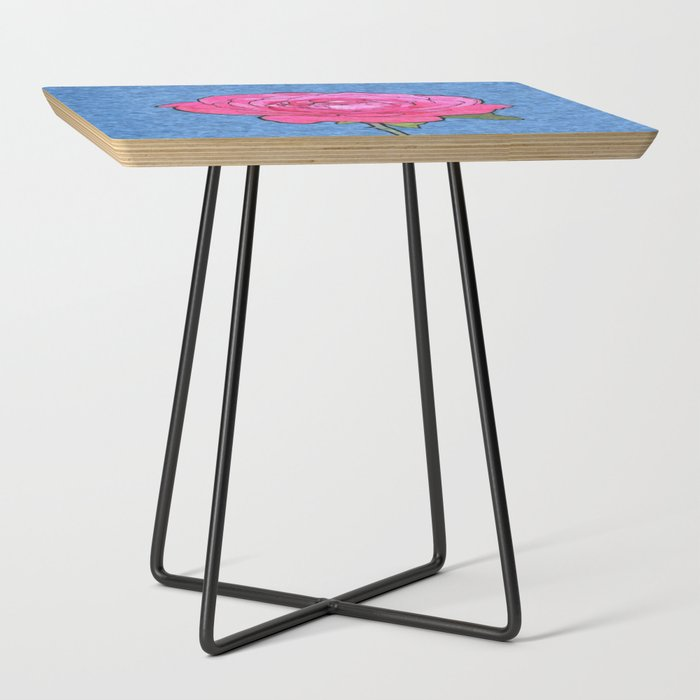 Pink_Rose_Cartoon_Side_Table_by_annaMeL__Black__Square