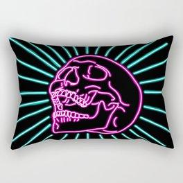 Pink Laughing Skull Rectangular Pillow