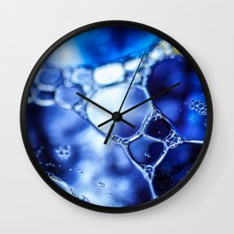 Bubbles with bubbles Wall Clock