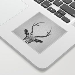 Deer - Black & White Sticker