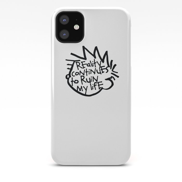 Calvin And Hobbes White iphone case