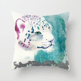 snow silver Throw Pillow