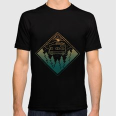 Advanture Mens Fitted Tee LARGE Black