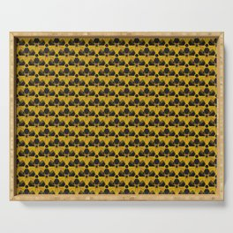 Nuclear Yellow & Black Nuke Sign Serving Tray