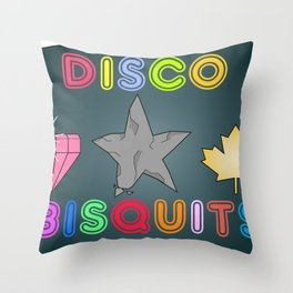 Disco Biscuits Throw Pillow