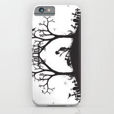 Edgar Allan Poe Black and White Illustrated Quote  Slim Case iPhone 6