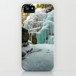 Angel Falls in Maligne Canyon, Canada iPhone Case
