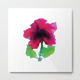 Polygonal Purple Flower Metal Print