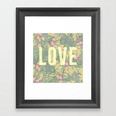 Love and Peaches Framed Art Print