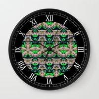 bamboo Wall Clocks featuring Bamboo by Zandonai Pattern Designs