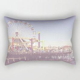 Santa Monica Pier California Los Angeles Rectangular Pillow