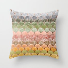 Watercolor art decó pattern Throw Pillow