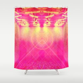 Pink Ceiling Shower Curtain