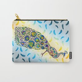 Flowery Peacock Carry-All Pouch
