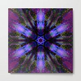 purple violet mandala Metal Print