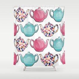 Colourful Teapots Shower Curtain