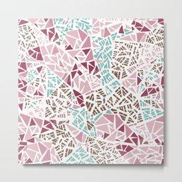 Happy lightful color Mosaic Metal Print