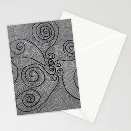 linee di fiori Stationery Cards