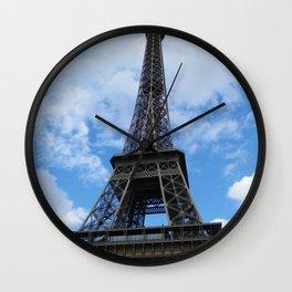 Eiffel Tower Sunny Day Wall Clock