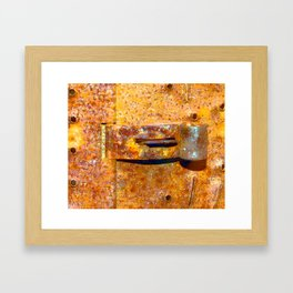 Industrial Lock Framed Art Print