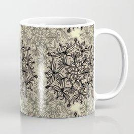 Lively Flower Mandala in mocca & cream Coffee Mug