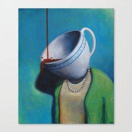 Constant Dribble (tea cup) Canvas Print