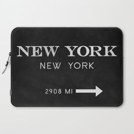 black watercolor new york new york Laptop Sleeve