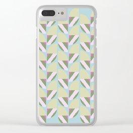 Summer breeze geometric Clear iPhone Case