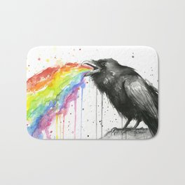 Raven Tastes the Rainbow Bath Mat