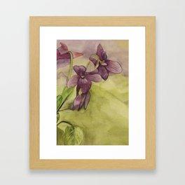 Watercolor Lilies Framed Art Print