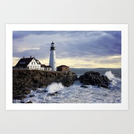 Port Head Lighthouse Maine Art Print