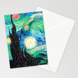 Starry Night Sky Stationery Cards