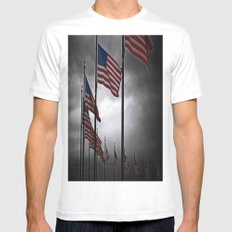 A Storm is Brewing White MEDIUM Mens Fitted Tee