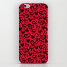 MESSY HEARTS: RED iPhone & iPod Skin