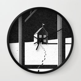 Walking Home/Deposit NY Wall Clock