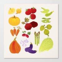 vegetables Canvas Prints featuring Vegetables  by rusanovska