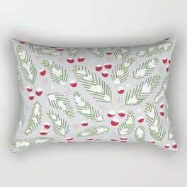 Winter Berries in Gray Rectangular Pillow