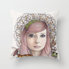 Honey Child Throw Pillow
