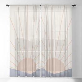 Morning Light - Blue Sheer Curtain