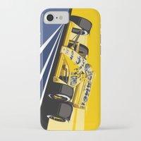 senna iPhone & iPod Cases featuring Ayrton Senna 1987 by Sean Kane Design