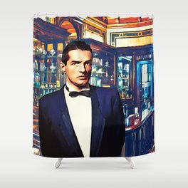 Falco at the Cafe Shower Curtain