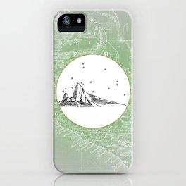 Machu Picchu, Peru, South America - Seven New Wonders Skyline Illustration Drawing iPhone Case