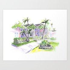 Villa 2 Art Print