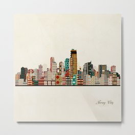 jersey city skyline Metal Print