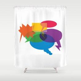 Speech Bubbles Shower Curtain