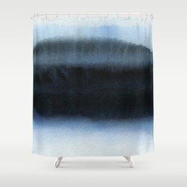 Blue L1 Shower Curtain