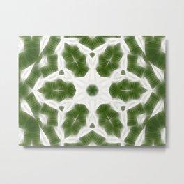 Green White Kaleidoscope Art 6 Metal Print